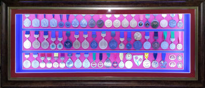 Medals in box frame
